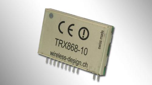 Transceiver-Modul TRX868-10 mit Abschirmblech