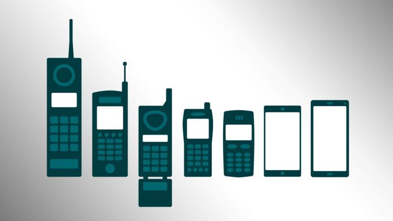 Die Antennen wurden bei den Handys immer kleiner. Bei den heutigen Smartphones sind sie gar nicht mehr sichtbar.